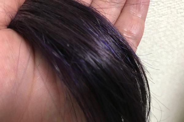 暗い髪色にマニパニライラック