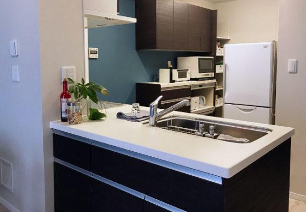 構造壁対応のペニンシュラ型フラット対面キッチン